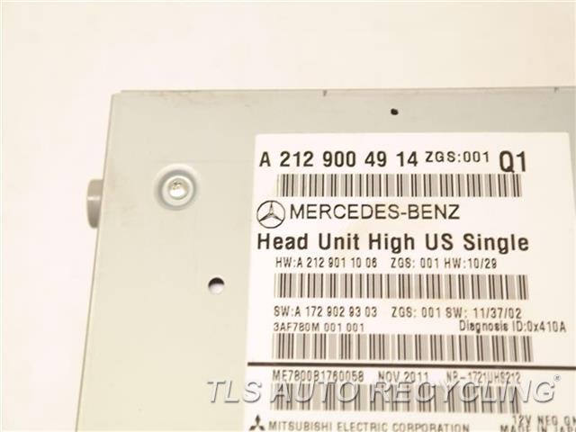 2012 Mercedes E350 Radio Audio / Amp  2129004914 RADIO RECEIVER