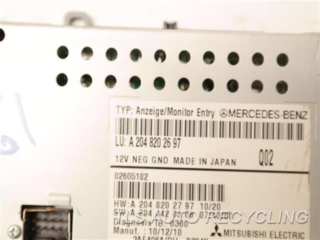 2011 Mercedes Glk350 Navigation Gps Screen  DISPLAY SCREEN 2048202697
