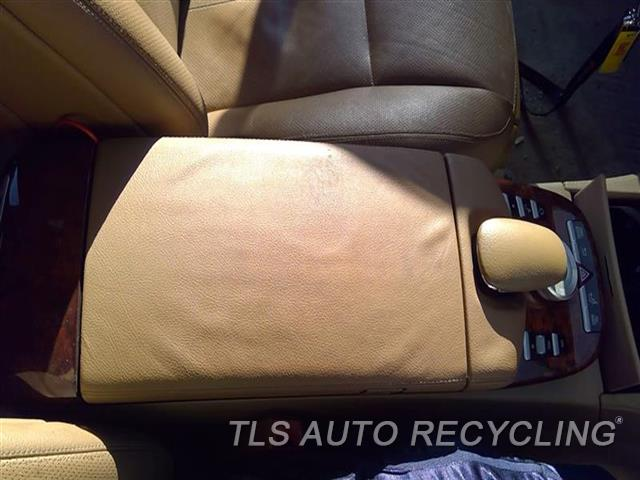 2008 Mercedes S550 Console Front And Rear  BRWN,221 TYPE, FLOOR, S550, LEATHER
