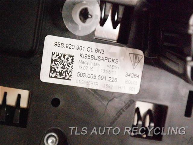 2016 Porsche Macan Speedo Head/cluster 95B920901P6N3 (CLUSTER), (MPH), S MODEL
