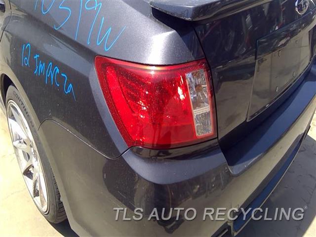 2012 Subaru Impreza Tail Lamp  LH,2.5L (TURBO), SDN, L.