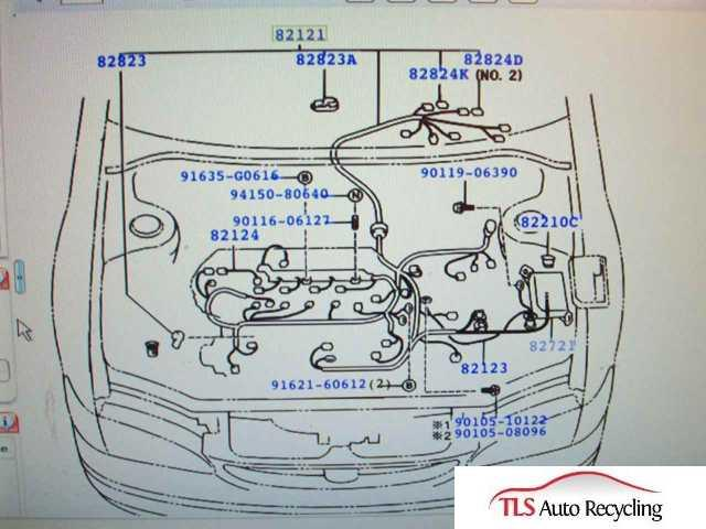 2001 toyota corolla engine wire harness 82121 02181 rh tlsautorecycling com Toyota Harness Connectors Toyota Wire Harness Repair Kit