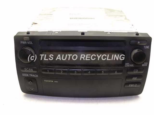 toyota_corolla_2003_radio_audio_21219_01 2003 toyota corolla radio audio amp 86120 02270 radio receiver  at crackthecode.co