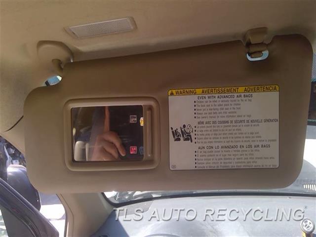 2009 Toyota Highlander Sun Visor/shade  LH,TAN,ILLUMINATION, L.