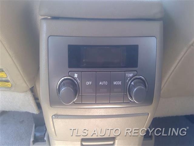 2009 Toyota Highlander Temp Control Unit  REAR, MANUAL TEMPERATURE CONTROL