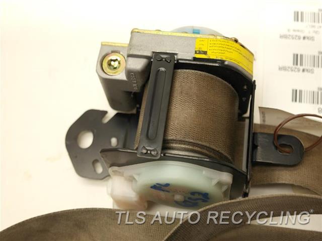 2002 Toyota Land Cruiser Seat Belt Front 73220-60322-A0, SHOWS WEAR TAN DRIVER FRONT SEAT BELT