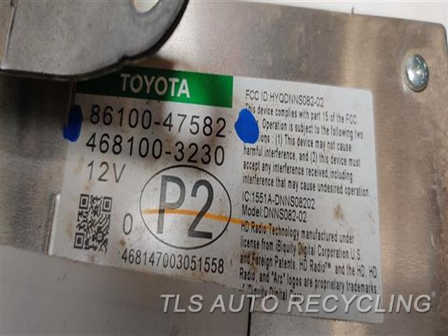 2018 Toyota Prius Radio Audio / Amp 86100-47582 PRIUS PRIME DISPLAY AND RECEIVER,