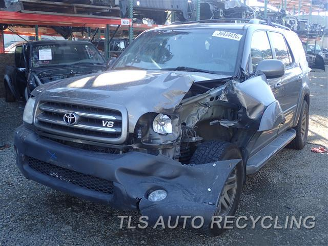 Parting Out 2003 Toyota Sequoia Stock 6408yl Tls Auto Recycling