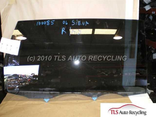 2006 Toyota Sienna Door Glass Rear Rh Sliding Door Glass Used A Grade