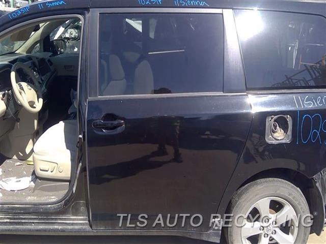 2011 Toyota Sienna Door Assembly, Rear Side DEEP SCUFF BOTTOM SECTION 7S2,LH,BLK,L., POWER SLIDING, (PRIV