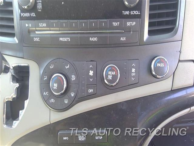 2011 Toyota Sienna Temp Control Unit  FRONT CONTROL, MANUAL TEMPERATURE