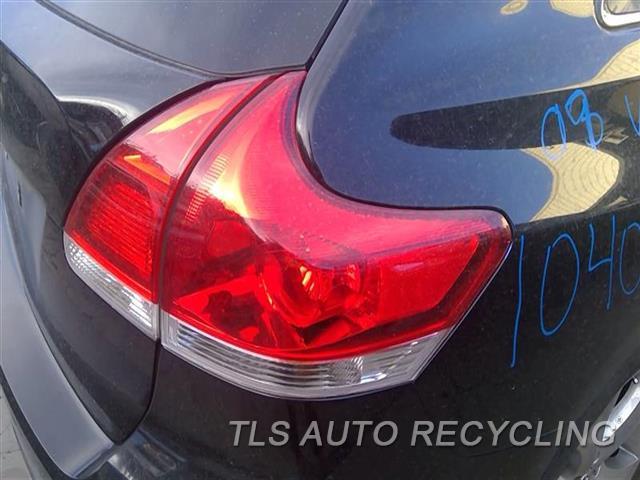2009 Toyota Venza Tail Lamp  RH,QUARTER PANEL MOUNTED, R.