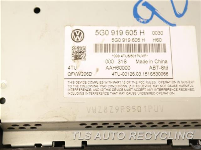2015 Volkswagen Golf Navigation Gps Screen 5G0919605 DISPLAY AND CONTROL PANEL