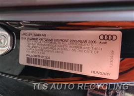 2015 Audi A3 AUDI Parts Stock# 10095W