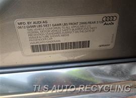 2013 Audi A8 AUDI Parts Stock# 10249W
