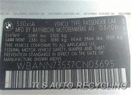 2007 BMW 530i Parts Stock# 00247G