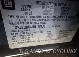 2017 GMC YUKON Parts Stock# 8529OR
