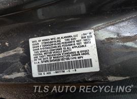 2016 Honda Odyssey Parts Stock# 00798R