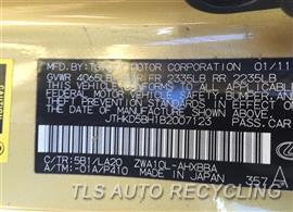 2011 Lexus CT 200H Parts Stock# 9108RD