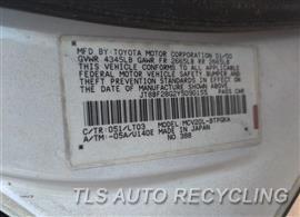 2000 Lexus ES 300 Parts Stock# 10399R
