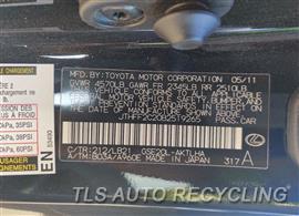 2011 Lexus IS 250 Parts Stock# 10515W