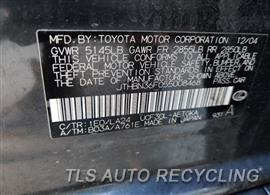 2005 Lexus LS 430 Parts Stock# 10431W