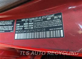 2015 Mercedes CLA250 Parts Stock# 10032W