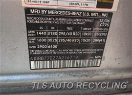 2007 Mercedes ML63 Parts Stock# 10310G