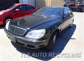 Parting Out Stock# 7261BK 2002 Mercedes S430