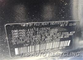 2009 Subaru IMPREZA Parts Stock# 9153RD