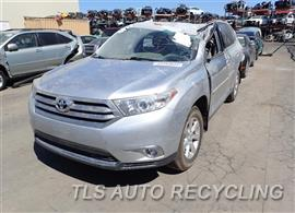 Parting Out Stock# 7308BK 2012 Toyota Highlandr