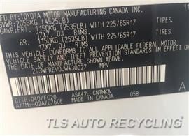 2018 Toyota RAV 4 Parts Stock# 9645YL