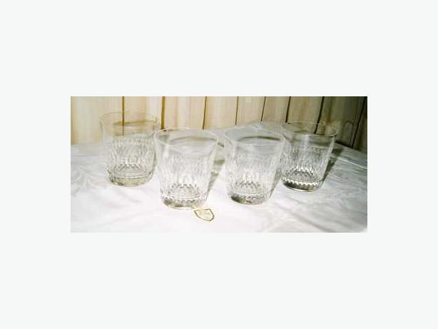SET OF 4 ROYAL DOULTON CALEDON DOUBLE OLD FASHION GLASSES