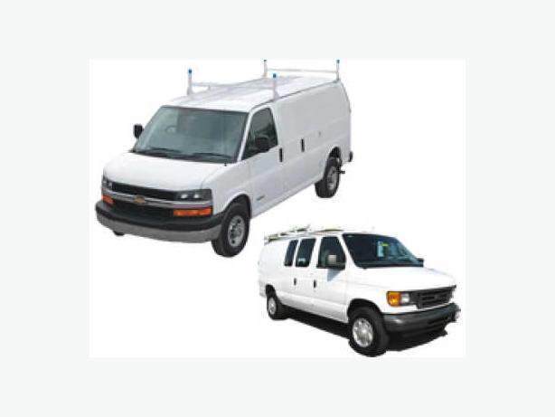 Equipment for Cargo Van - Ladder Rack, Shelving system - New!