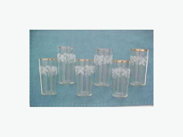 SET OF 6 FROSTED GLASSES