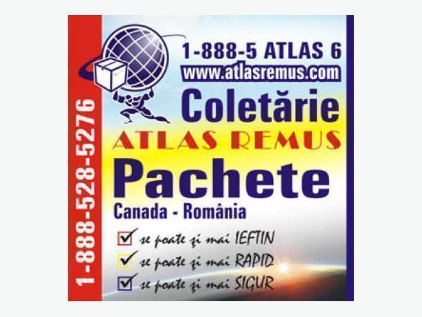 COLETARIE PACHETE CANADA ROMANIA ATLAS REMUS 1 888 528-5276
