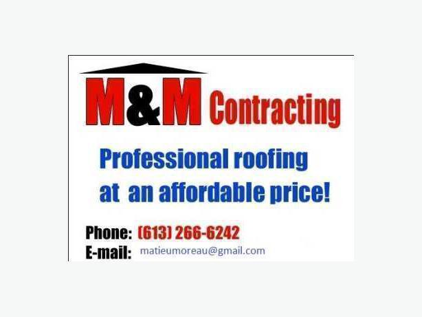 M&M  CONTRACTING NOW ACCEPTING CREDIT CARDS