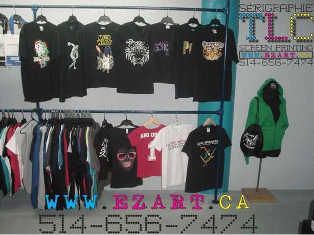 Tshirts imprimés,Sérigraphie TLC Montréal,Tshirt screen printing,Logo,Art,Design