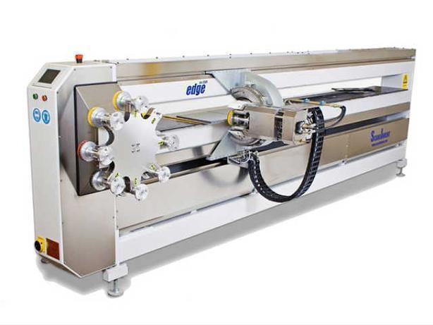 Edge polishing machine for stone working