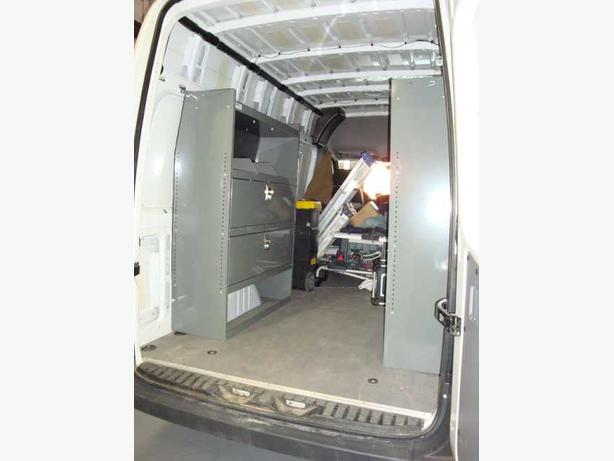 Dodge Sprinter Van Interior Shelving Storage Partition Outside Ottawa Gatineau Area Ottawa