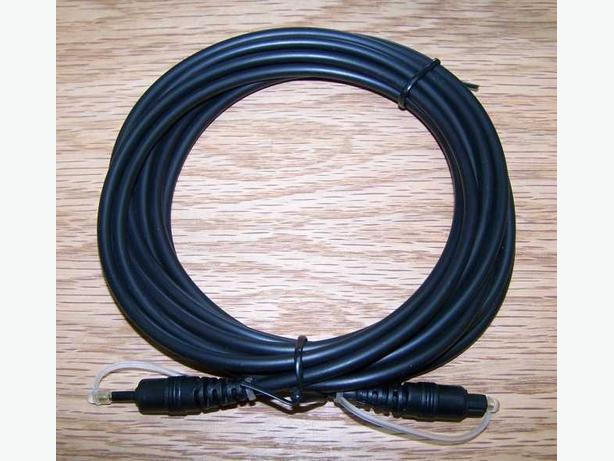 Toslink (Optical) to Mini Toslink (Optical) Cable 12 Feet long. (NEW)