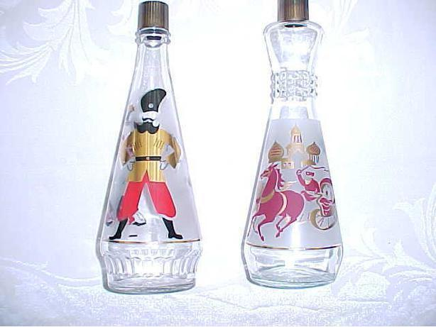 RUSSIAN MOTIF DECORATIVE BOTTLES