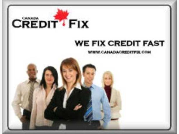 Credit Repair, Get it at Canada Crdit Fix, 1-866-530-3646