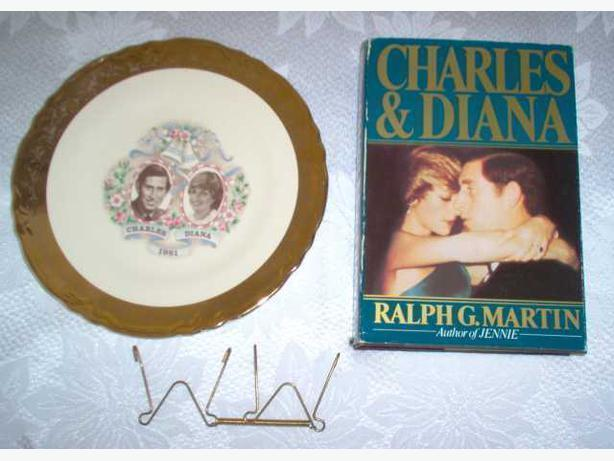 Princess Diana wedding commemorative plate and Book