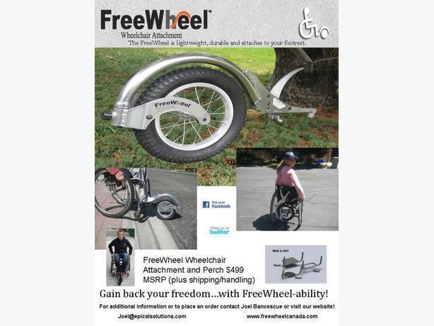 The FreeWheel(tm) Wheelchair Attachment