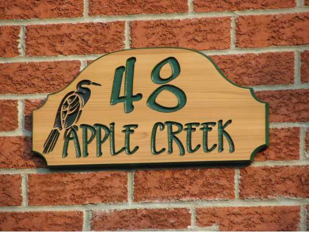 Wood address signs