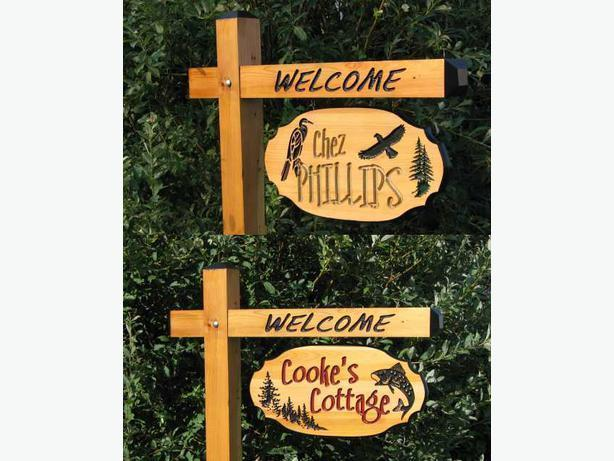Buzz Art - Wood Cottage Signs