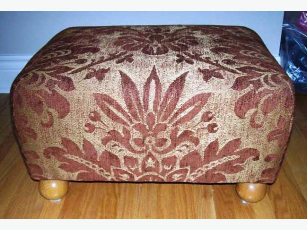 Footstool and Matching Rug
