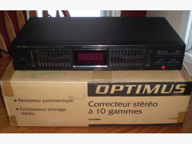 Optimus 10-Band Graphic Equalizer