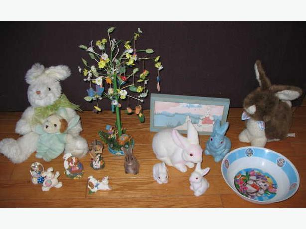 LOT OF EASTER DECORATION - RABBITS